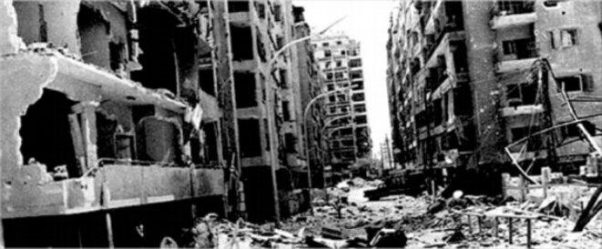 Hama (Syrie) en février 1982. © DR