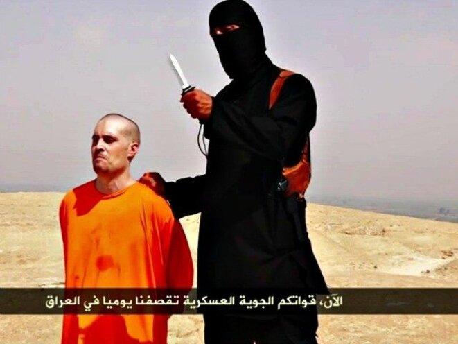 L'un des hommes représentés sur les images diffusées cette semaine par The Telegraph est Mohammed Emwazi, alias Jihadi John, qui a procédé à des atrocités pour des vidéos de propagande.