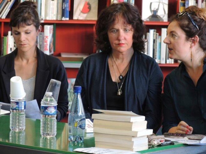 Laura Kasischke et Marguerite Capelle (interprète), rencontre avec Les filles du loir, Paris 23 septembre 2017 © Gilles Walusinski