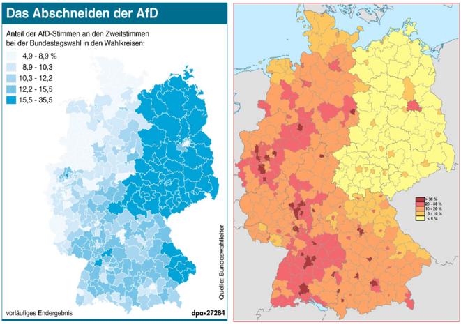 Vote AfD - population issue de l'immigration (2011) © DPA ; Wikipedia