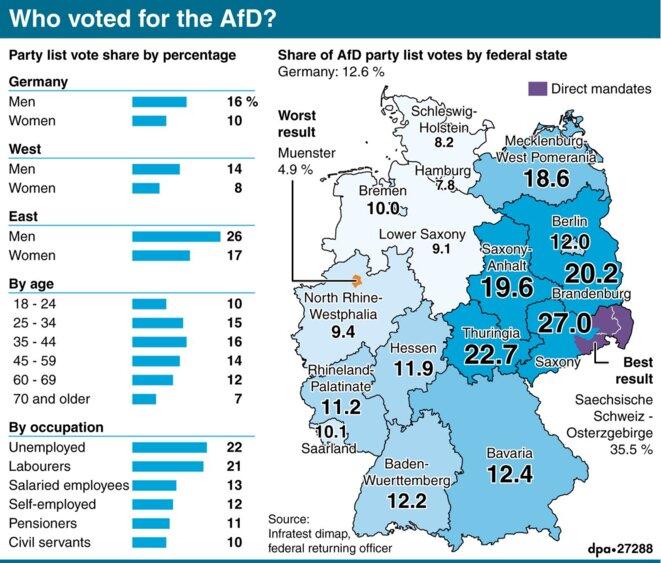Vote AfD © DPA