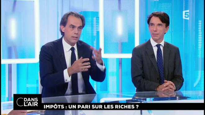 Philippe Dessertine et Philippe Crevel [France 5, capture d'écran YF]