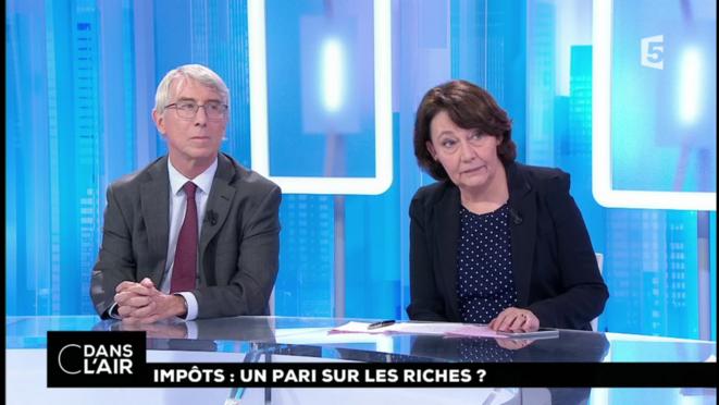 François Ecalle et Françoise Fressoz [France 5, capture d'écran YF]