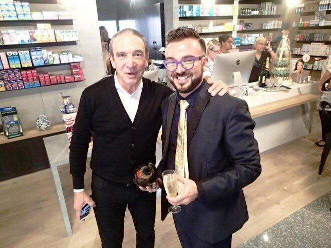Avec Alain MEINARDI, chef d'entreprise ancien de l'Ariane © Didier CODANI