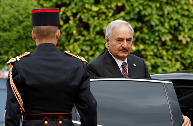 Field Marshal Khalifa Haftar, military strongman in Libya, a potential war crimes suspect. © Reuters