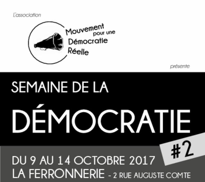 bandeau de la seconde semaine de la démocratie à Dijon