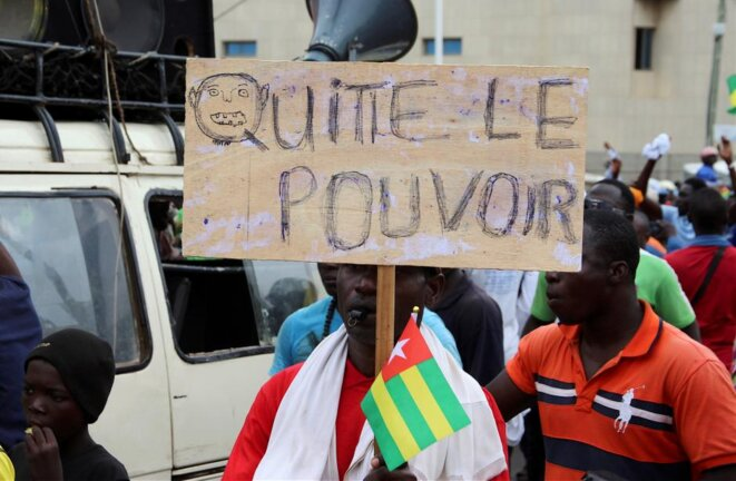 Dans la manifestation du 7 septembre 2017 à Lomé (Togo). © Reuters