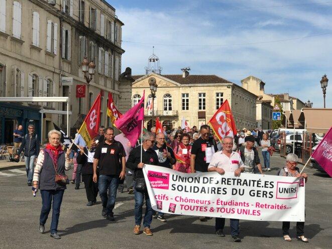 Manifestation du 28 à Auch (Gers) [Photo YF]