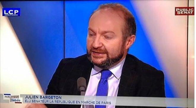 Julien Bargeton, sénateur La République en Marche, Paris [LCP, capture d'écran YF]