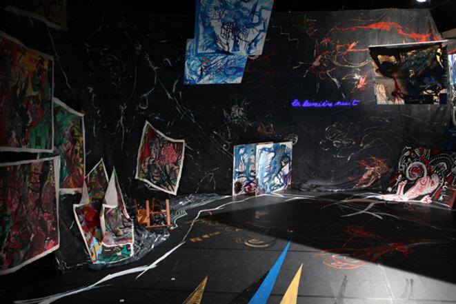Peinture de décor pour « Le Monologue d'Adramélech », 1985