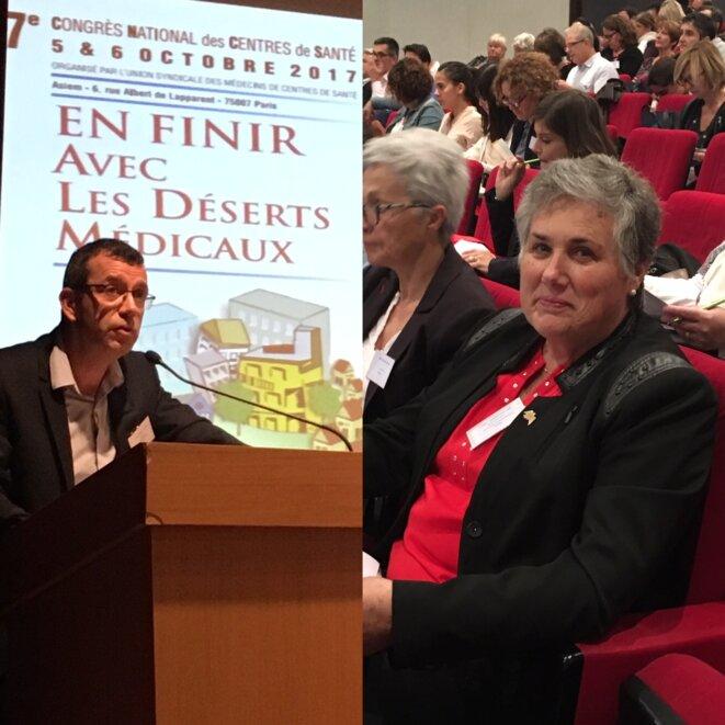 Le docteur Éric May et la vice-présidente d'Occitanie Marie Piqué © Julien Sueres