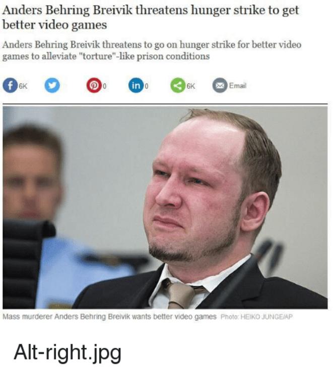 Behring Breivik - Une Chialeuse Raciste à son procès.