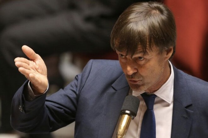 Nicolas Hulot à l'Assemblée nationale le 26 septembre 2017 (Stéphane Mahé/Reuters)
