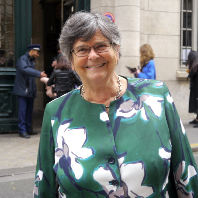 Ruth Dreifuss, le 5 octobre 2017 à Paris. © LF