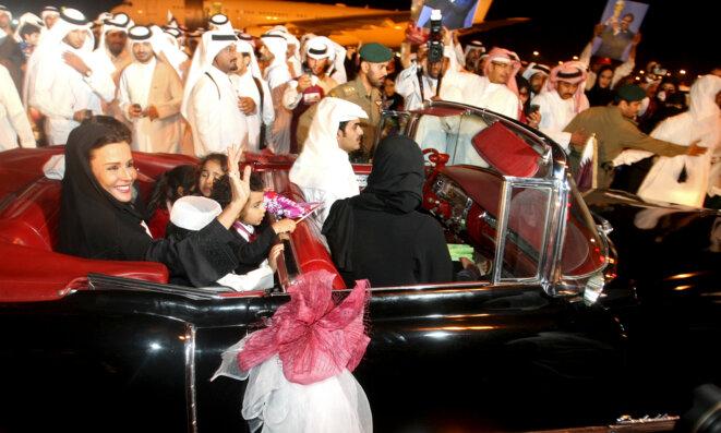 La Sheikha Moza, le 3 décembre 2012, à Doha, au Qatar. © Reuters