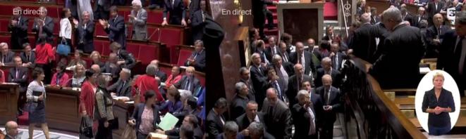 A l'Assemblée le 9 octobre, la droite quitte l'hémicycle