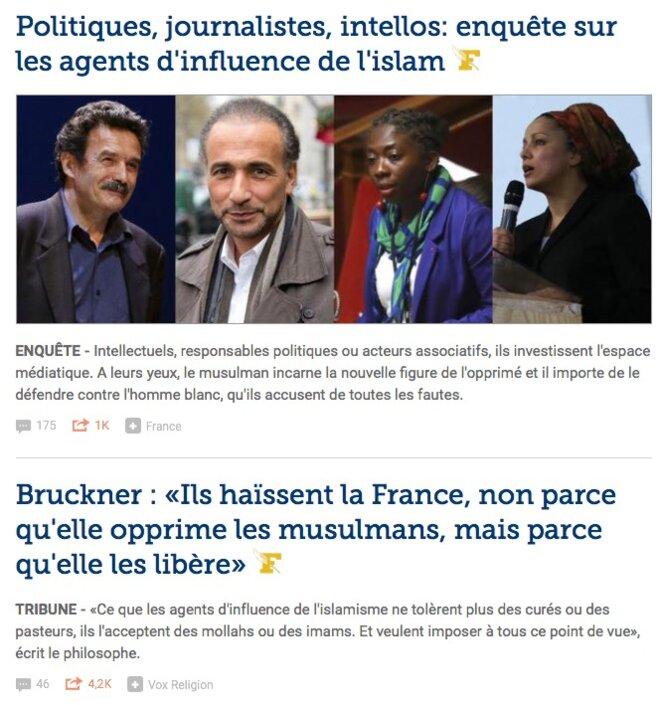 La Une du Figaro.fr samedi matin 7 octobre 2017