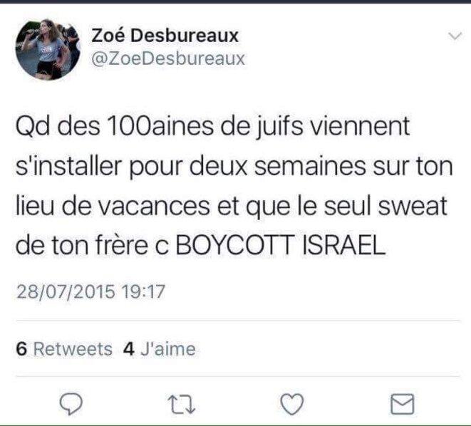 tweet-zoe-desbureaux-antisemite