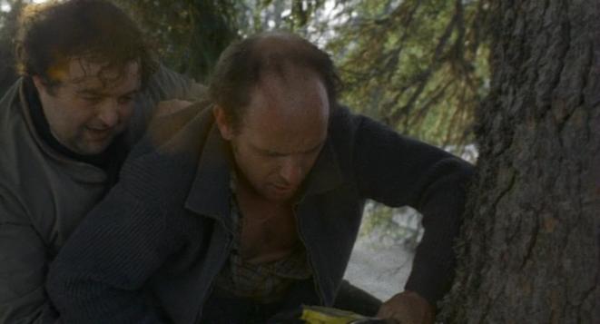 Serge (Jean-François Stévenin) et Georges (Jacques Villeret) dans « Passe Montagne »