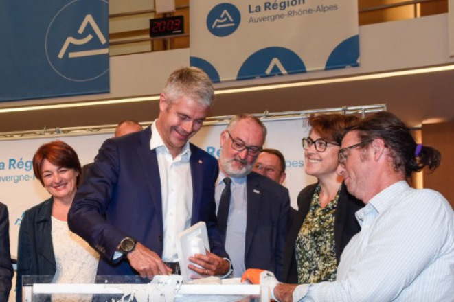 Laurent Wauquiez à l'Hôtel de Région. © Site du conseil régional