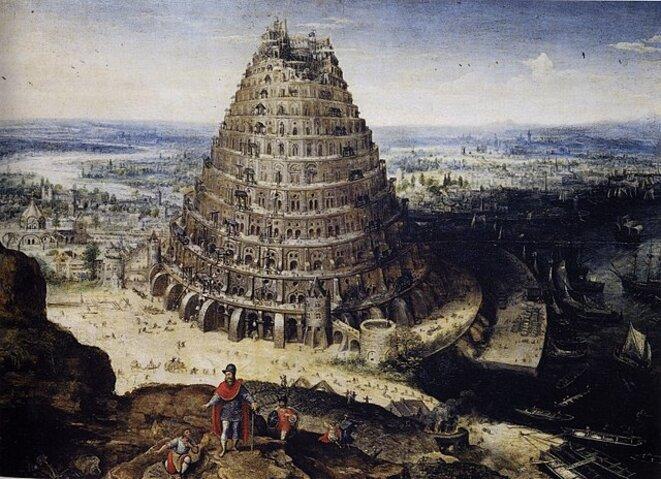 La Tour de Babel selon Lucas van Walckenburg © Domaine public
