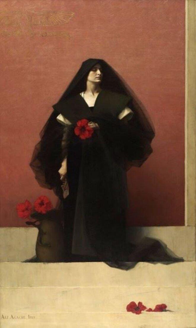 """Alfred Agache, """"Énigme"""", 1888 (musée des Beaux-Arts de Rouen)"""