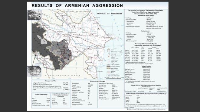 La zone de conflit Arméno-Azerbaïdjanaise © ©RobsPic