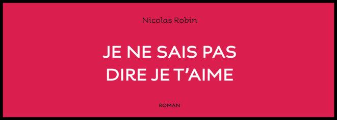 Je ne sais pas dire je t'aime, le nouveau roman de Nicolas Robin © DR