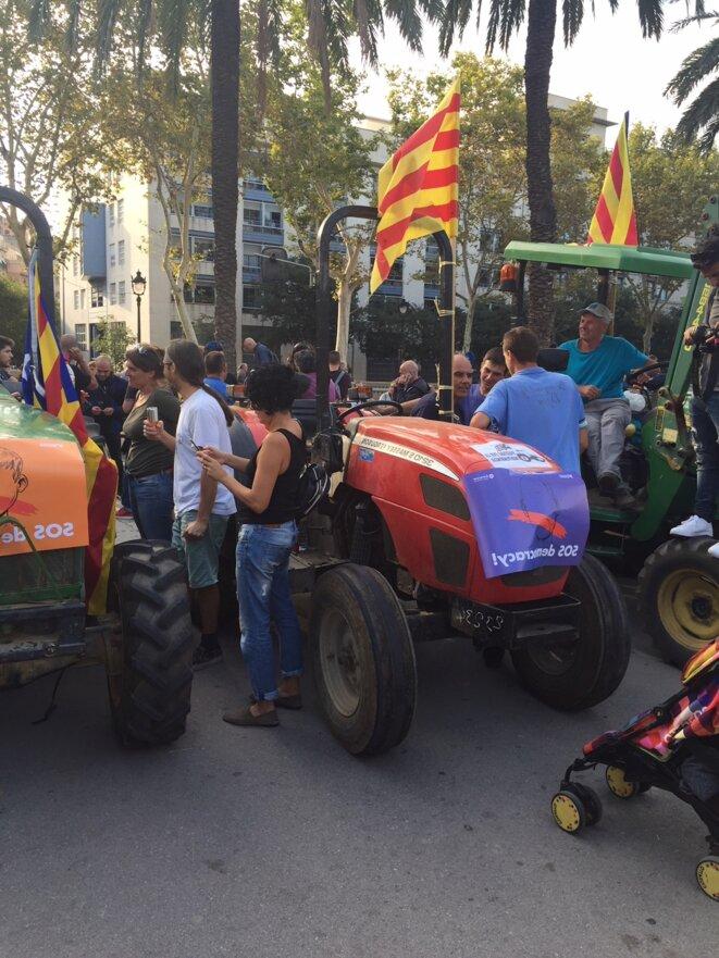 Tracteurs à la manifestation indépendantiste. © DR