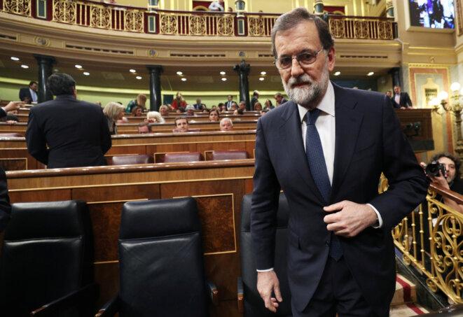 Mariano Rajoy le 11 septembre 2017, à Madrid, avant son discours devant le congrès des députés © Sergio Perez / Reuters