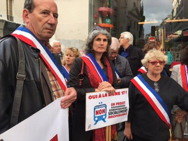 Manifestation des maires pour le maintien de la ligne 17, 12 octobre 2017 (JL)