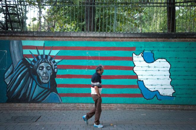 Une peinture murale à Téhéran. © Reuters