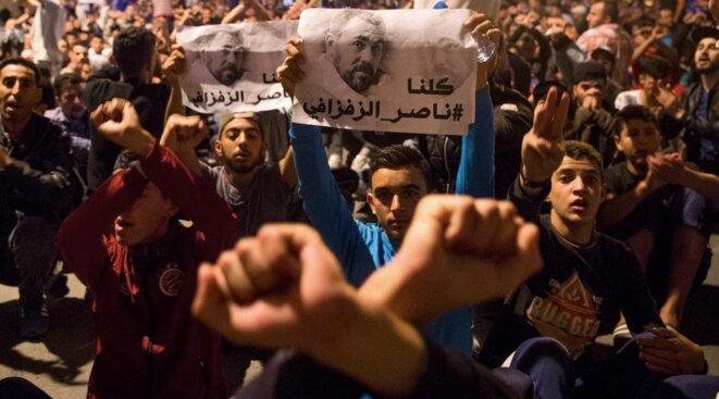 Marche pour la libération des militants du Hirak prisonniers au Maroc. © Reuters