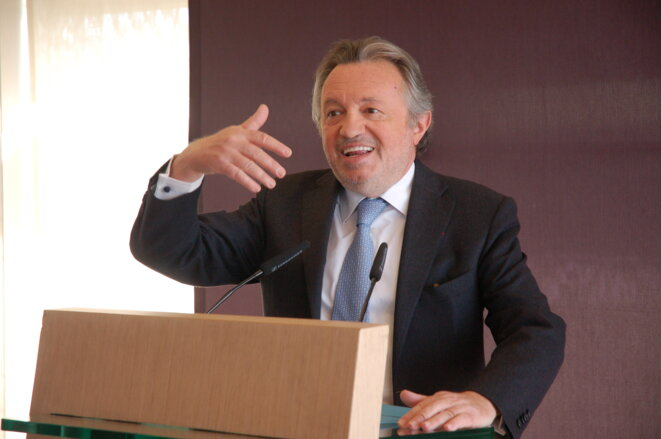Jean-Noël Guérini en avril 2015 quitte la présidence du département, après l'échec de son nouveau parti Force du Treize aux départementales © LF