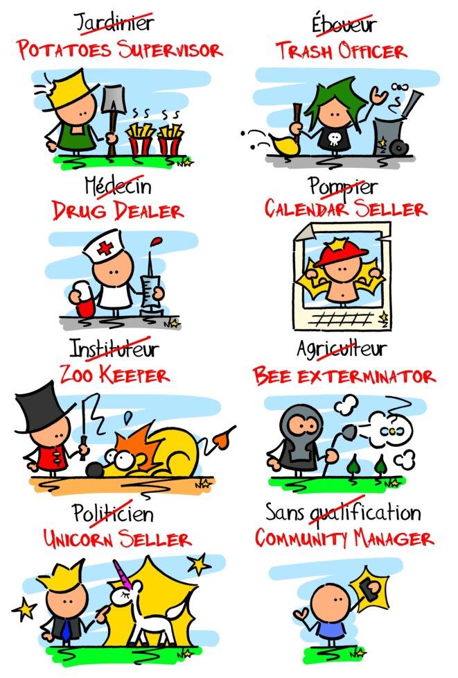 Les nouveaux noms des vieux métiers © Norb