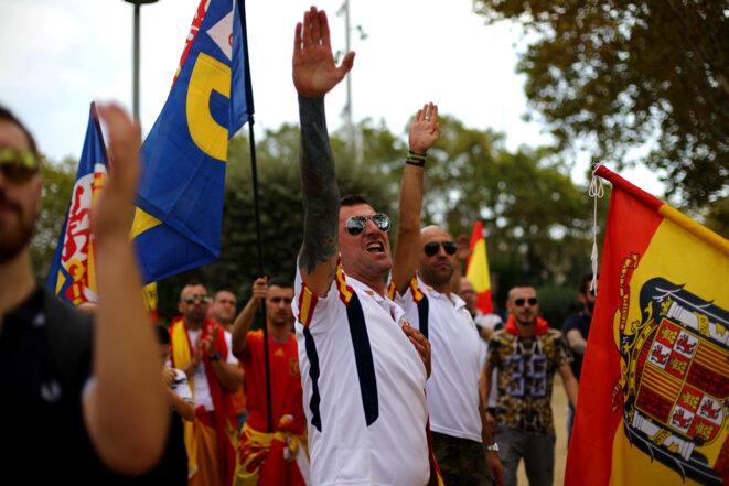Salut nazi à Madrid, en marge des rassemblements pour le « jour de l'hispanité » le 12 octobre 2017 © Reuters / Ivan Alvarado.