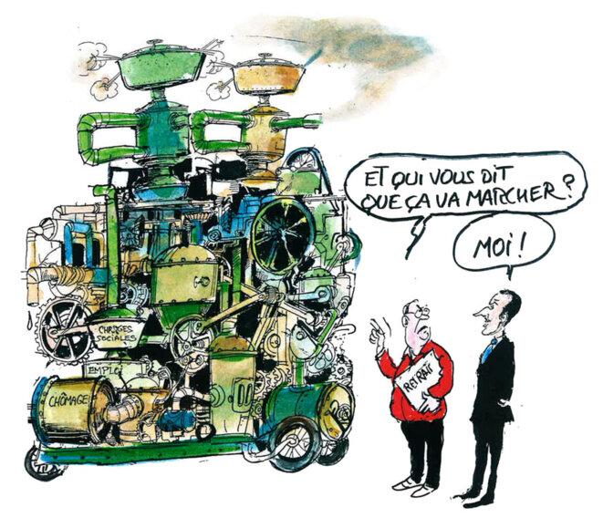 L'intervention d'Emmanuel Macron © Calvi