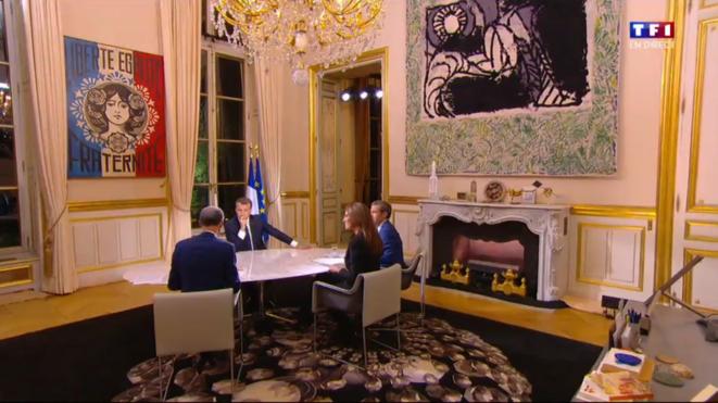 Bureau présidentiel, interview télévisée du 15 octobre