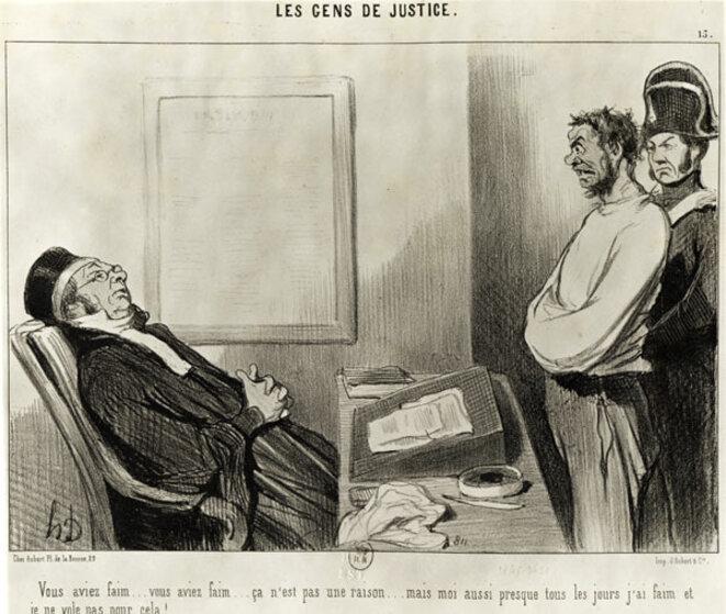 Les gens de justice © Daumier