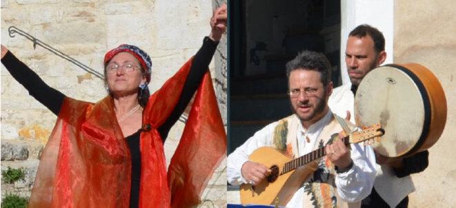 De gauche à droite : Anne VASSILTCHIKOFF - Imad MOHDI-MAGHROBI - Stéphane PERNICE, © trio À Cordes et à Cœur.