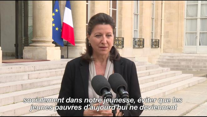 Agnès Buzyn, ministre de la Santé et des Solidarités, le 17 octobre [AFP, capture d'écran YF]
