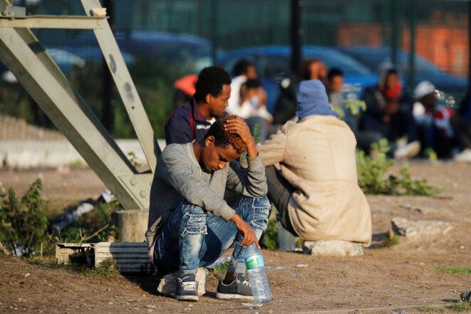 """Près de l'ancienne """"jungle"""" de Calais, le 23 août 2017. © Reuters"""