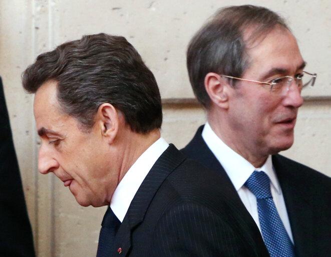 Nicolas Sarkozy et Claude Guéant, le 27 mars 2012. © Reuters