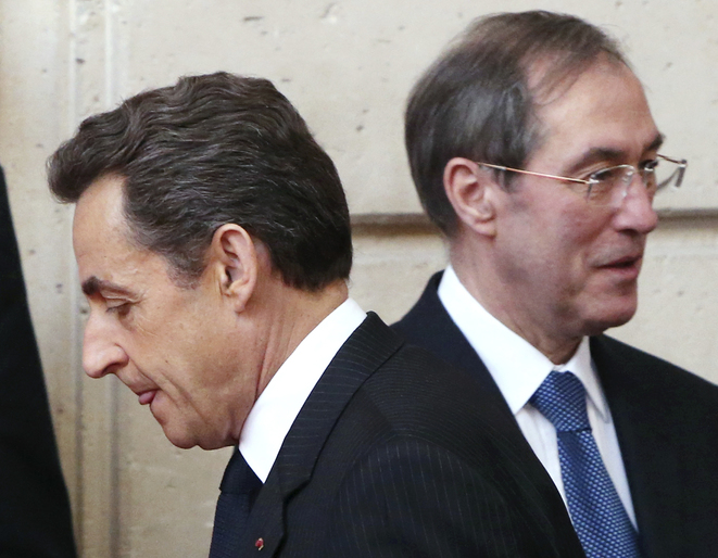Nicolas Sarkozy and his right-hand man Claude Guéant, March 27th, 2012. © Reuters
