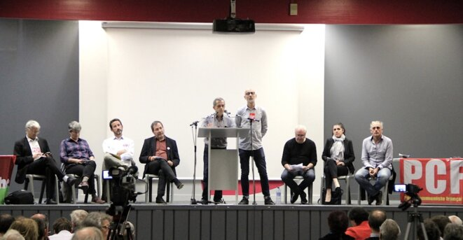 Réunion unitaire à Toulouse, salle Barcelone, le 19 octobre 2017. © Manu Riondé