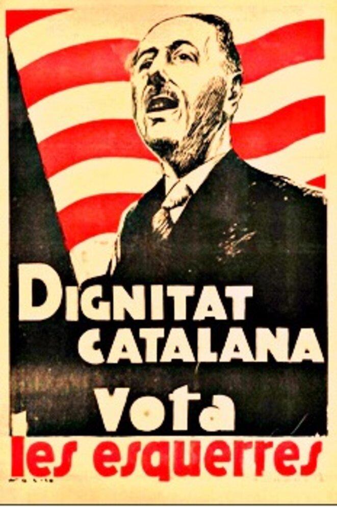 Affiche électorale de l'ERC avec Lluís Companys © DR