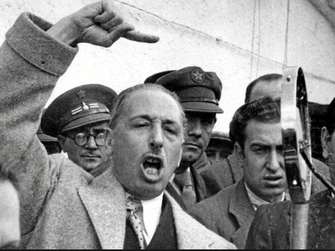Lluís Companys proclame l'État catalan en 1934 © DR