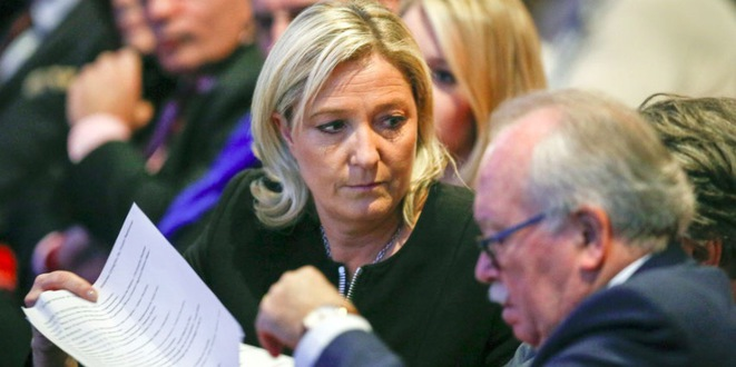 Marine Le Pen et Wallerand de Saint-Just. © Reuters