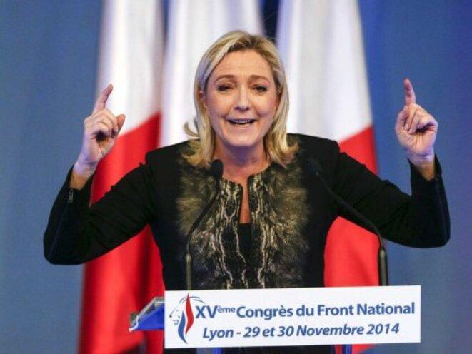 Marine Le Pen lors du congrès de novembre 2014 © Robert Pratta / Reuters