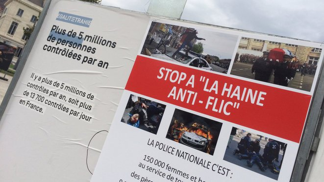 L'exposition recouverte par les policiers d'Alliance, le 20 octobre 2017 © France 3